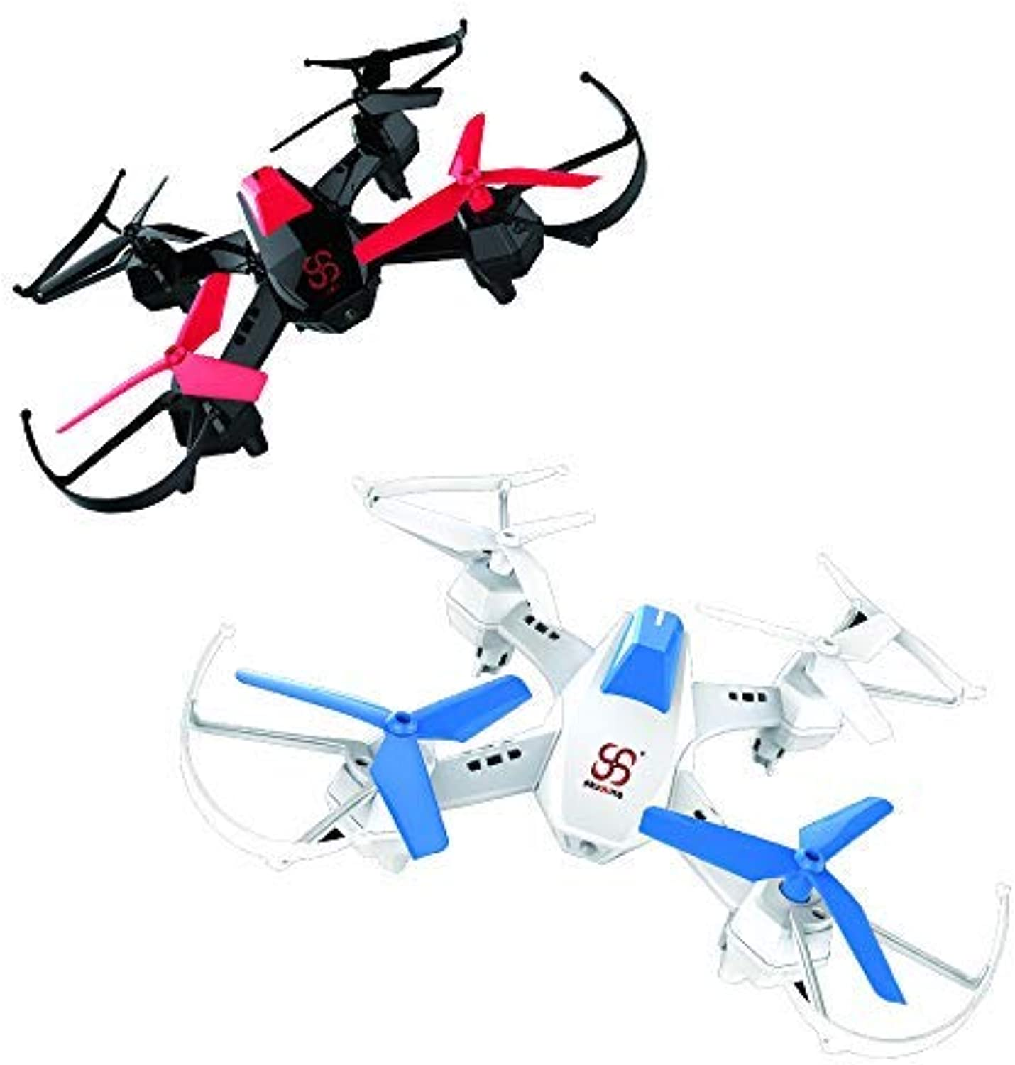 Battle Drones Fighting Drone with Infrared SKYKING S55X with 3D Flips and Battle Mode for Kids,2.4Ghz 4 Channel 6 Axis Gyro,color White and Black,Quantity 2 for 1 Set