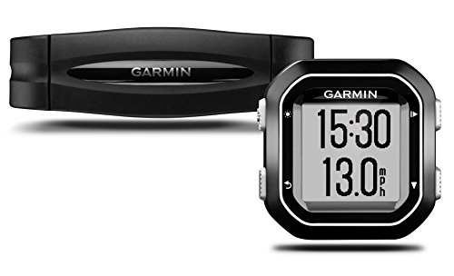 Garmin Edge 25 HR GPS + Monitor de frecuencia Cardi&aacuteca Producto refurbish, Negro, Plata