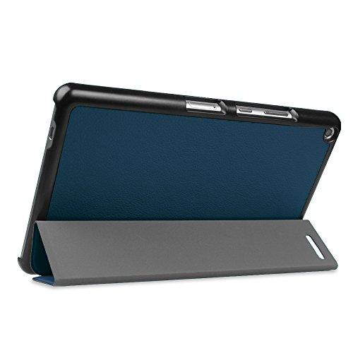 Fintie Huawei Mediapad T3 8 Hülle Case - Ultra Dünn Superleicht SlimShell Ständer Cover Schutzhülle Tasche mit Zwei Einstellbarem Standfunktion für Huawei T3 20,3 cm (8,0 Zoll), Marineblau - 6