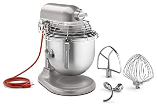 KitchenAid Commercial Countertop 10-Speed Stand Mixer 8-Quart Bowl Lift with Stainless Steel Bowl Guard (KSMC895NP), 120 Volts, NSF Certified for Commercial Use, Nickel Pearl (B01N25SDUG) | Amazon price tracker / tracking, Amazon price history charts, Amazon price watches, Amazon price drop alerts