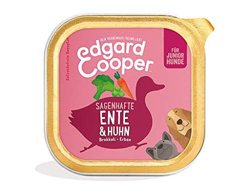 Edgard & Cooper natürliches Premium Nassfutter für Welpen in Schalen - 11 x 150g - Ente & Huhn - getreidefrei, proteinreich & gesund