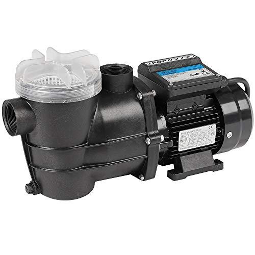 Monzana Filterpumpe 10.980 l/h mit Vorfilter Poolpumpe Umwälzpumpe Sandfilter Pool Pumpe 11,0m Förderhöhe Poolfilter