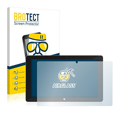 BROTECT Panzerglas Schutzfolie kompatibel mit TrekStor SurfTab Duo W2 - AirGlass, extrem Kratzfest, Anti-Fingerprint, Ultra-transparent