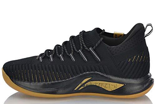 LI-NING Speed V Playoff Professional Basketball Shoes Men Cushion Mono Yarn Lining Cloud Sport Shoes Sneakers Black GoldenABAP011 US 13
