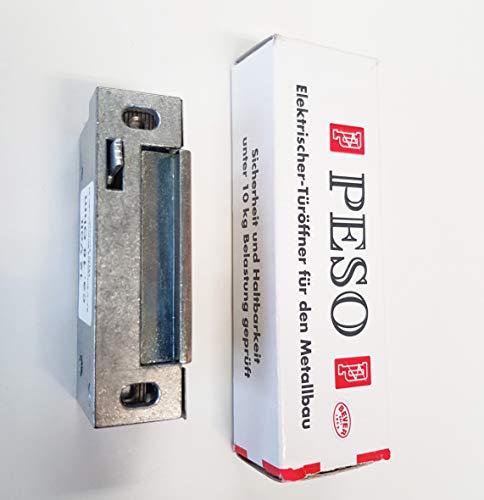 Elektrischer Türöffner PESO 500 oA 12 V mit Entriegelungshebel, Schraubabstand = 62 mm