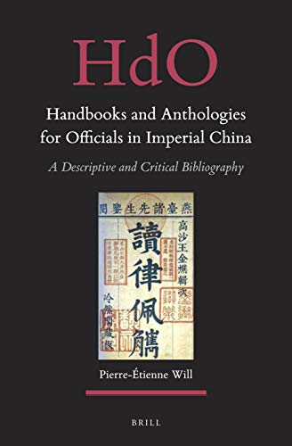 Handbooks and Anthologies for Officials in Imperial...
