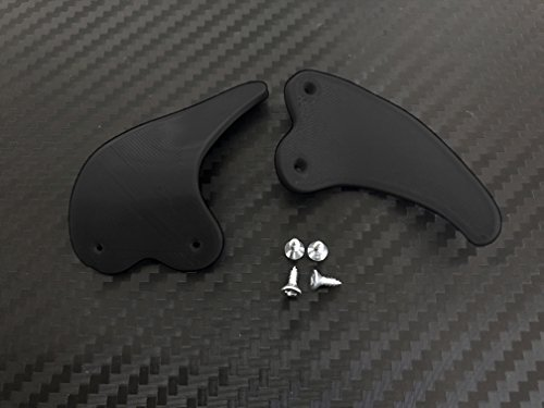 SAR-Market - PS4 Controller Paddles| Shark teeth | aus Kunststoff | PLA / ABS (schwarz)