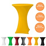 Babat Stehtischhusse Stretch in Farbe gelb und Durchmesser 80-85 für Bistrotisch/Stehtisch - 2