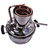 JIXIN Home Brewing Kit for Alcohol Distiller, 10 L, Stainless And Copper