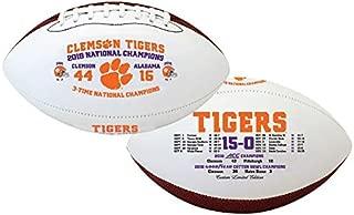 Clemson Tigers Souvenir Football 2018 National Championship Souvenir Footballs Clemson Tigers Souvenir Footballs 3-Time National Champions