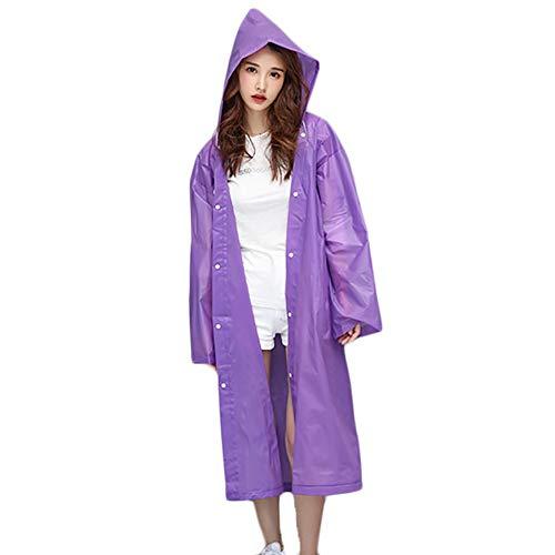 G&F Portable Adulte Capuche Pluie/Raincoat Réutilisable À Manches for Camping/Voyage/d'alpinisme (Color : Purple)