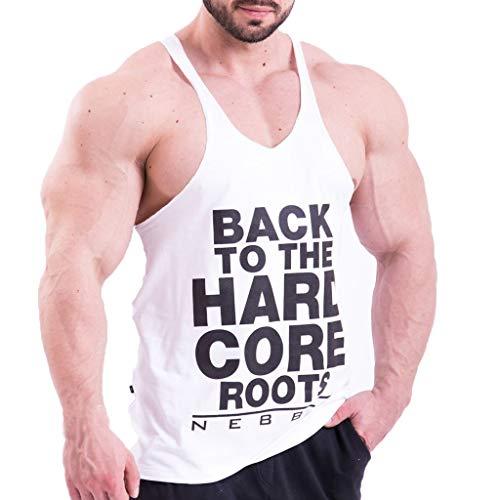 FRAUIT Canottiera Uomo Cotone 100% Canotta Bodybuilding Palestra Uomini Tank Top Gym Gilet Ragazzo Lavoro Estivo T Shirt Divertenti Frasi Maglia Maglietta Particolare Canotterie Sportive