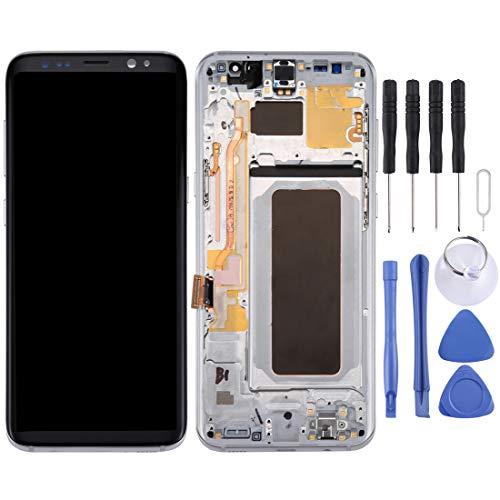 Reparatie LCD-scherm + touchpaneel met frame voor Galaxy S8 + / G955 / G955F / G955FD / G955U / G955A / G955P / G955T / G955V / G955R4 / G955W / G9550 (zwart), zilver