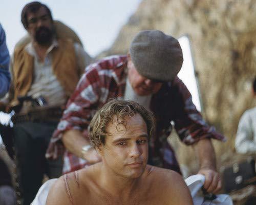 Marlon Brando in One-Eyed Jacks Shirtless Bare Chested on set 11x14 HD Aluminum Wall Art