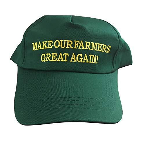 TrendyLuz Make Our Farmers Great Again Growing America Donald Trump MAGA Green Baseball Cap Hat