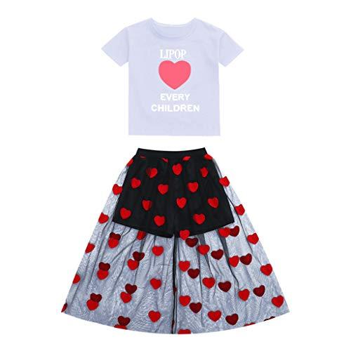 Julhold tiener kinderen meisjes mode elegante brief pailletten T-Shirt korte mouw losse tops streep broek outfits set 3-13 jaar