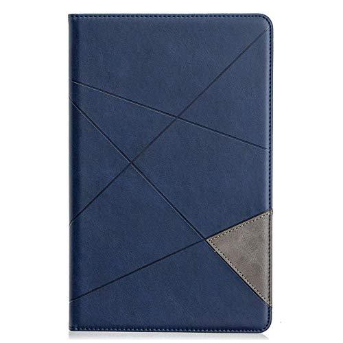 XIAOYAN Funda de lujo para Samsung Galaxy Tab A 10.5 2018 T590 T595 Smart Cover Case para Samsung Tab A2 10.5 SM-T590 SM-T595 Tablet Funda-azul oscuro