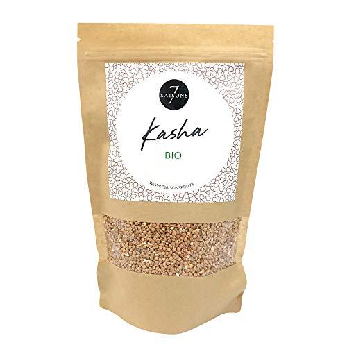Kasha bio - Sac de Kraft de 100 gr - Maison de Qualité - 7 Saisons