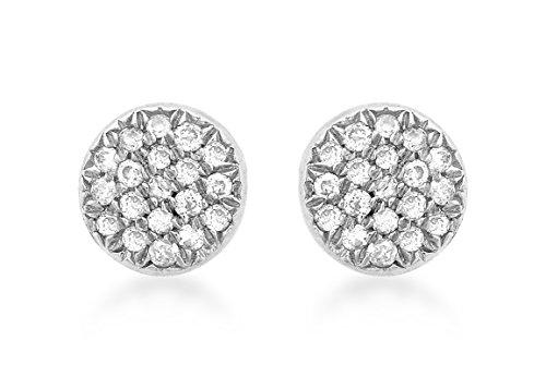 Boucles d'Oreilles - 5.58.611Y - Pendientes de mujer de oro blanco (9k) con 36 diamantes