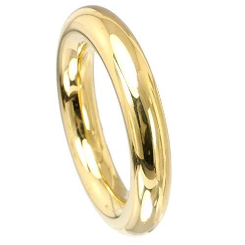 Kadó Ring Changes Edelstahl beschichtet in Farbe Gold, bombiert glänzend 4,5mm 250-4,5-00P (58 (18.5))