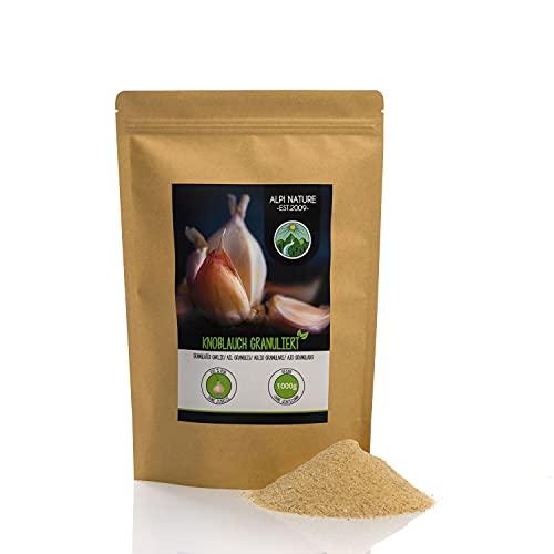 Ajo granulado (1kg), ajo molido, 100% natural de ajo suavemente secado, naturalmente sin aditivos, vegano
