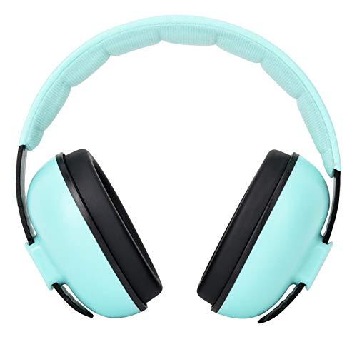Socobeta 27DB Defensores auditivos para niños Reducción de Ruido Defensores auditivos Protección auditiva Azul Amarillo Rosa Verde(Verde)