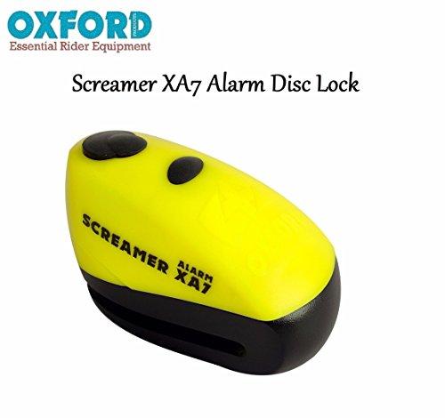 Oxford lk280 Screamer XA7Bloqueo de Disco con Alarma Moto Motocicleta Scooter antitheft 7mm Seguridad 100db Audible Alarma de Bloqueo de Disco Seguridad
