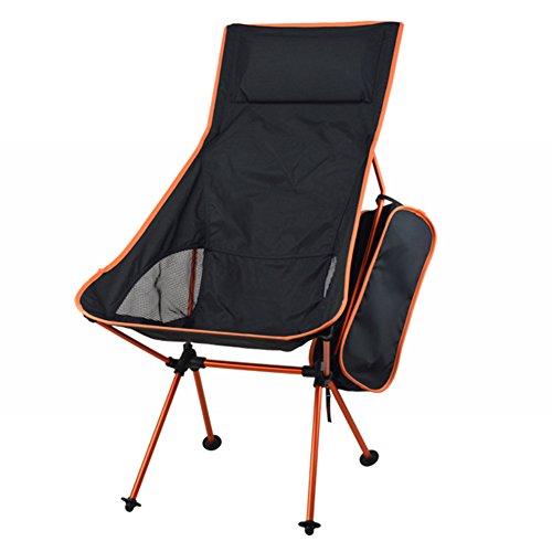 HAPPYX Campingstuhl Klappstuhl Falt Strandstuhl Angelstuhl Tragbar Camping Stuhl Aluminium für Camping, Wandern, Picknick, Angeln, Gartengrill, Strandreisen (Halten Sie bis zu 100kg 220lb)