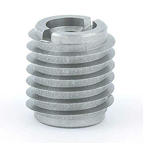 E-Z Lok 400-4-CR 400-4 Threaded Insert, Stainless Steel, 0.500' L, Knife Thread, 1/4'-20 Internal Threads, 0.625', 18-8 Stainless Steel (Pack of 10)