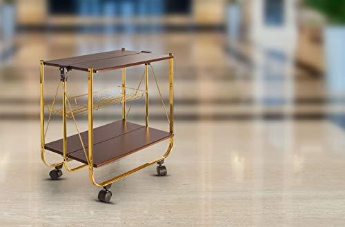Spread Spain Foldable Wooden Service Trolley/Bar Trolley