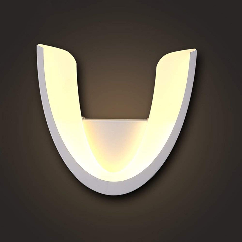 WHKHY Einfache & Moderne Acryl-LED-Lampenlampe Wand Wand Lounge Flur Schlafzimmer Nachttischlampe