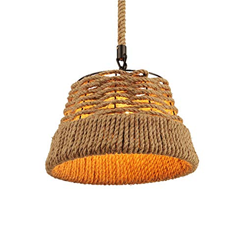 DAETNG Modern natural rattan lampshade Lamp, LED Ceiling Light Cover Hand Woven Rattan Chandelier Light Shade Bird Nest Lamp for The Bar, Coffee Shop, Hallway and Living Room, LED Blub Not Included