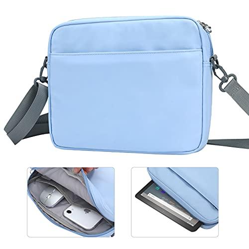 TiMOVO Tablet schutztasche Kompatibel mit Fire HD 8 & Fire HD 8 Kids Edition 8 Inch Kinder Tragetasche Schultertasche mit Schultergurt Multifunktional Tasche Wallet Bag, Blau