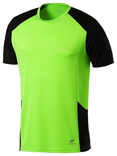 Pro Touch Kinder Cup T-Shirt, Grün Gecko/Schwarz, 164