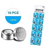 ENIYE LR44 AG13 357 303 SR44 Battery 1.5V Button Coin Cell Batteries(10 Pack)