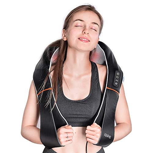 RENPHO Shiatsu Neck and Shoulder Back Massager with Heat, Electric Deep Tissue 3D Kneading Massage...