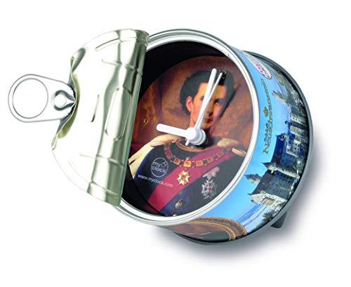 my clock MyClock Reloj de Mesa Magnético, Personalizable, Regalo Original con Foto, Marco de Fotos, DIY - Neuschwanstein