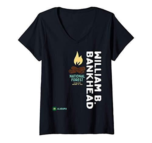 Womens William B. Bankhead National Forest Vertical Alabama USA V-Neck T-Shirt