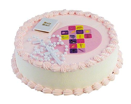 Cake Company Tortendekoration zur Kommunion Mädchen mit essbarem Zuckeraufleger