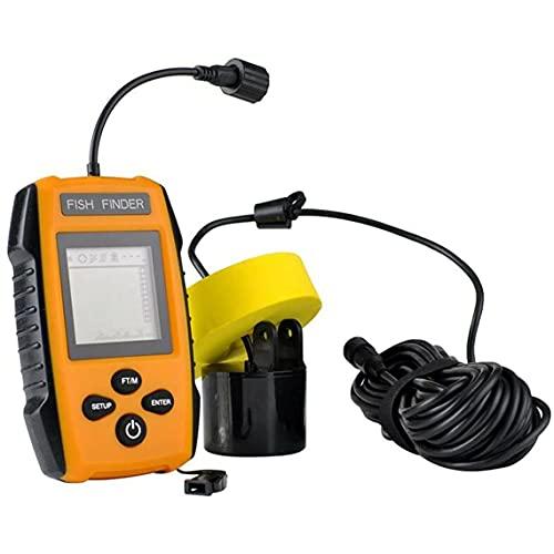 Tatoonly Buscador de peces portátil Detector de peces Sonar ultrasónico con cable e inalámbrico portátil de cristal líquido buscador de peces