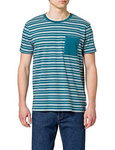 edc by ESPRIT Herren 051CC2K307 T-Shirt, 452/PETROL Blue 3, XXL