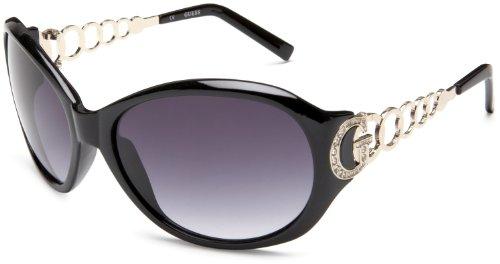 GUESS Women's 6510 Round Sunglasses,Black Frame/Gradient Dark Grey Lens,one size