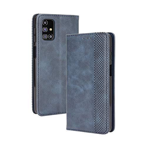 LAGUI Kompatible für Samsung Galaxy M31s Hülle, Leder Flip Hülle Schutzhülle für Handy mit Kartenfach Stand & Magnet Funktion als Brieftasche, Blau