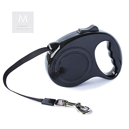 Dog & Co Ausziehbare Hundeleine für mittelgroße und kleine Hunde, einziehbar, 5 m, Schwarz