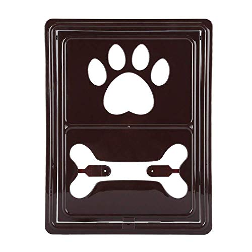 Maogoumao Kat en hond deur Magnetische Huisdier Scherm Flap Deur Automatische Afsluitbare Kat Hond Beveiliging Poort Raam Kat Flap Deur, Koffie