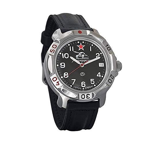 Vostok Komandirskie 2414 Hand-Winding Mechanical Russian Military Mechanical Watch // 431306 (Classic-Leather)