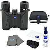 Zeiss 8x25 Terra ED Compact Pocket Binocular Black Bundle with Zeiss Lens Care Kit and Lumtrail Cleaning Cloth