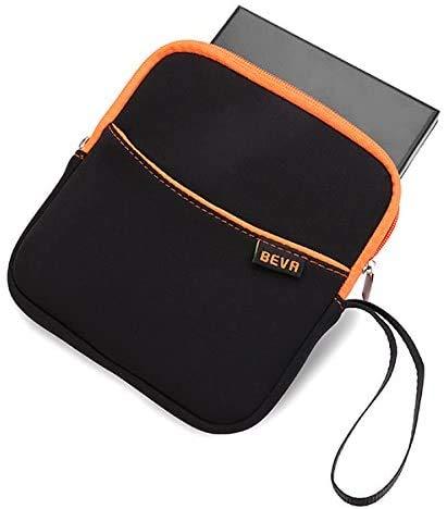 BEVA Schutztasche für CD DVD Laufwerk, Tragbare Festplattentasche Erschütterungsfeste Hartschalentasche Weiche Tasche Schutzhülle Case Soft Tasche für Externes CD DVD Laufwerk