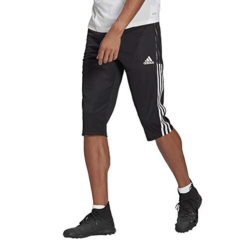 adidas mens Tiro 21 3/4 Pants Black Medium