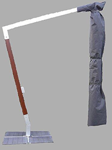 PEGANE Housse de Protection pour Parasol Bois/alu déporté - Dim : 310 x 60cm